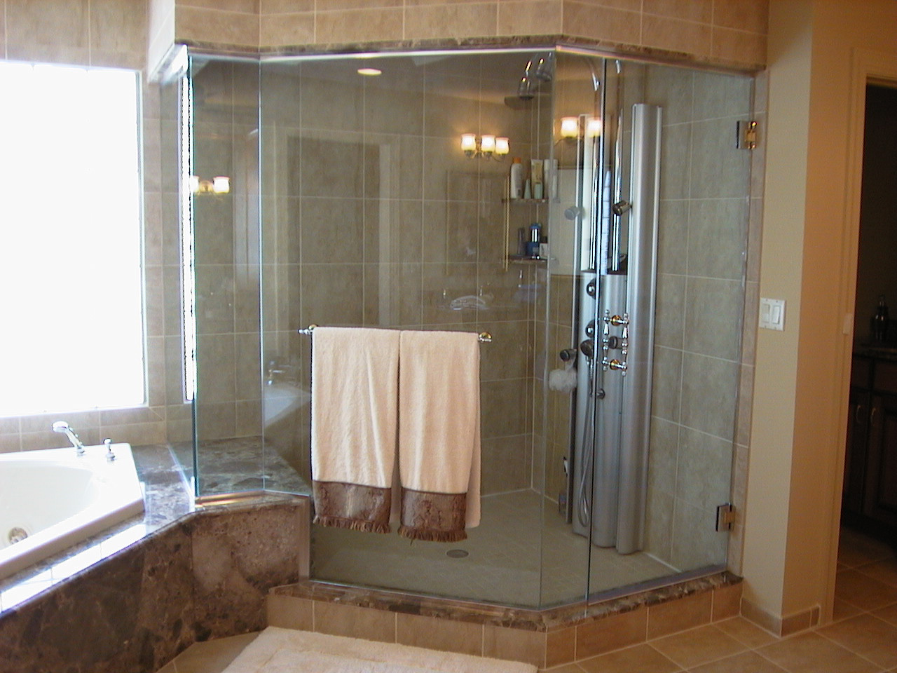 small glass shower stall innovative home design - Custom Shower Design Ideas
